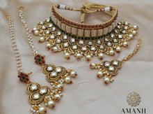 Load image into Gallery viewer, Sabyasachi inspired stylish Indian heritage bridal jewellery sets - LebaasOnline
