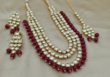 Load image into Gallery viewer, Kundan Necklace Set Inspired by Anushka Sharma wedding jewellery - LebaasOnline