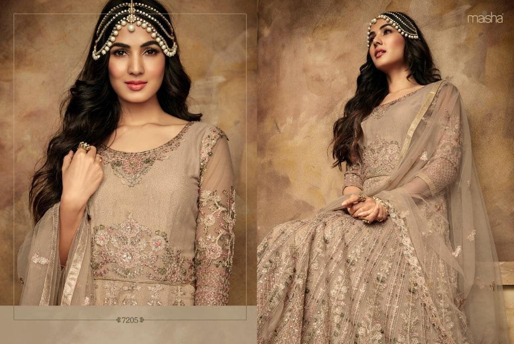 Pastel Pink floral gown By Maisha Aafreen - LebaasOnline