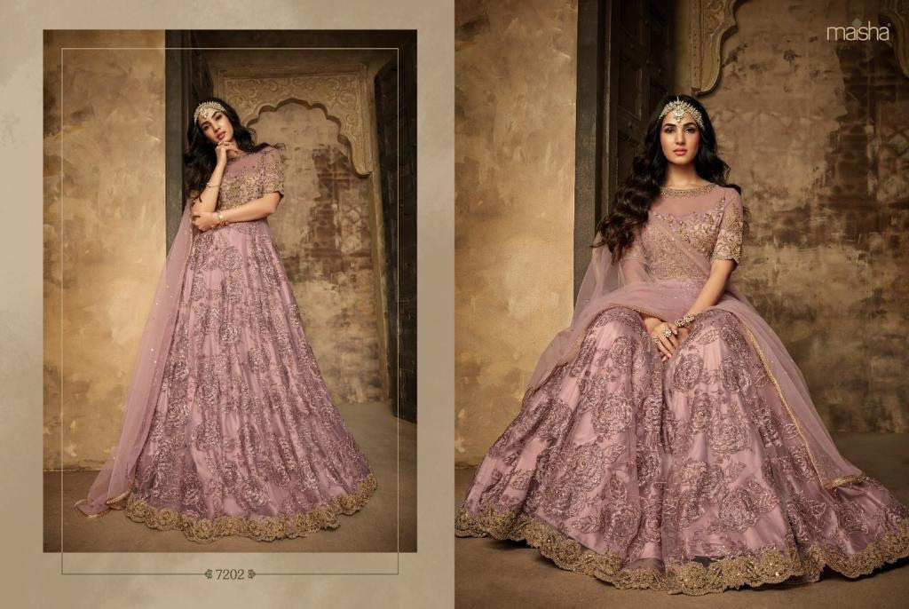 Lilac Gown By Maisha Anarkali 2019 Suits - LebaasOnline