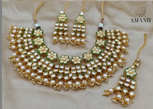 Load image into Gallery viewer, MEENAKARI Polki Kundan choker set - LebaasOnline