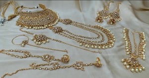 INDIAN BRIDAL- Gold wedding jewellery set - LebaasOnline
