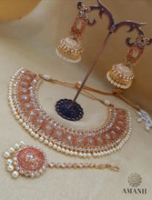 Load image into Gallery viewer, Tradition Meenakari Jewellery sets with Pearls - LebaasOnline