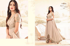 MAISHA GLORIOUS -Exclusively  designed Anarkali Gown dresses - LebaasOnline
