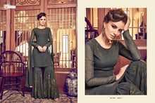 Load image into Gallery viewer, SNOWWHITE - Swagat 2019 dress - olive grey - LebaasOnline