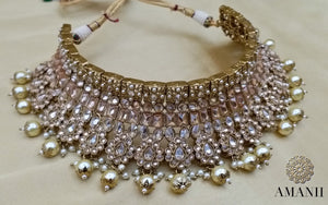 Indian Wedding Party jewellery Set by Amanii Crystal collection - LebaasOnline