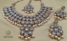 Load image into Gallery viewer, Pearls and Crystal Party Jewellery Set - LebaasOnline