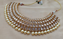 Load image into Gallery viewer, Stylish Polki Diamond Necklace Sets - LebaasOnline