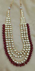 Kundan Necklace Set Inspired by Anushka Sharma wedding jewellery - LebaasOnline
