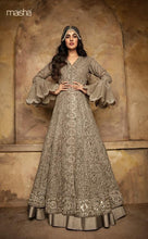Load image into Gallery viewer, Dark Beige Anarkali Gown by Maisha Aafreen - LebaasOnline