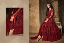 Load image into Gallery viewer, Regal Red Anarkali Dress By Maisha - LebaasOnline