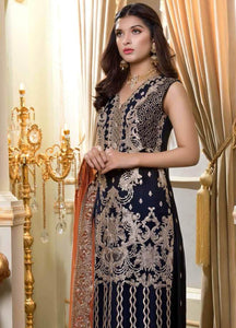 Shamrock by Maryum N Maria Embroidered Chiffon 3-Piece Suit SMM 2019 - Premium Wedding Collection - LebaasOnline