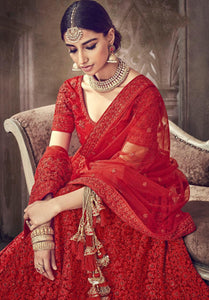 Royal BOLLYWOOD BRIDE Indian Designer wedding Lehnga - LebaasOnline