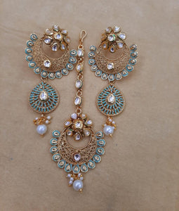 MEENAKARI ART-ndian Gold plated necklace jewellery set with stunning artwork - LebaasOnline