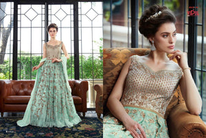 VIPUL- Trendy Pastel Coloured Indian Gowns| Indian dresses for women | custom dresses online - LebaasOnline