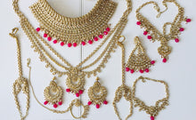 Load image into Gallery viewer, Royal Indian Bridal Wedding Jewellery full set in silver gold - LebaasOnline