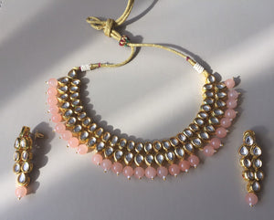 CLASSIC KUNDAN -luxuriously handcrafted necklace jewellery set - LebaasOnline