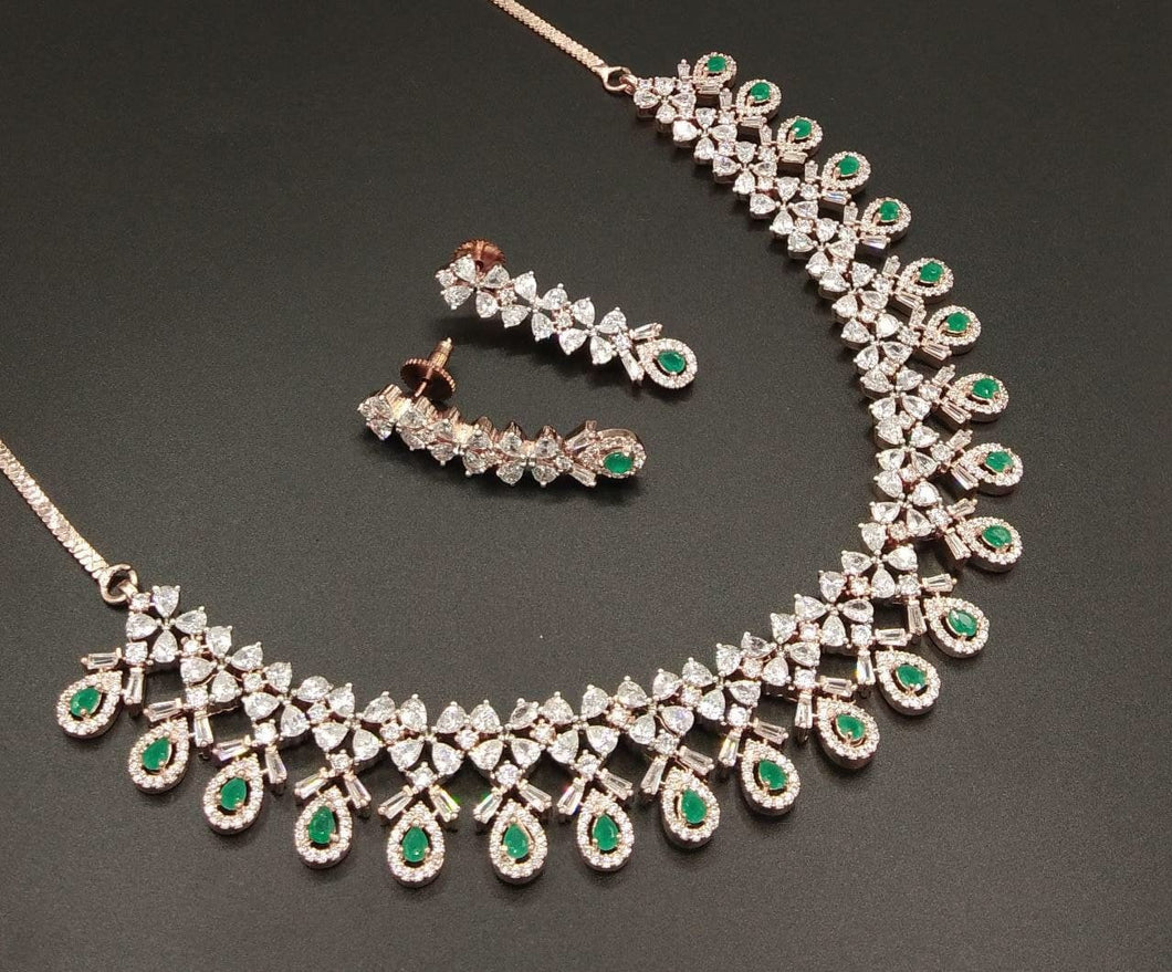 Great Gatsby American Diamond Necklace - LebaasOnline