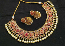 Load image into Gallery viewer, Tradition Indian Jewellery set Mint Meenakari - LebaasOnline