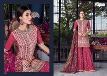 Load image into Gallery viewer, SEZANE- Indian Designer party suits in trendy Sharara style | Violet 2019 sharara collection | Indian palazzo suits NEW - LebaasOnline