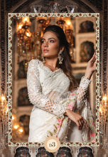 Load image into Gallery viewer, White Saree by Maria B Mbroidered Heritage Chiffon Collection - LebaasOnline