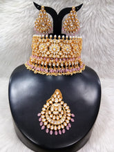Load image into Gallery viewer, Anushka Sharma Wedding Jewellery Inspired Kundan Set - LebaasOnline