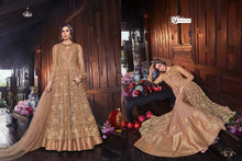 Load image into Gallery viewer, SNOWWHITE -Swagat Anarkali Gown in Sophisticated Gold - LebaasOnline