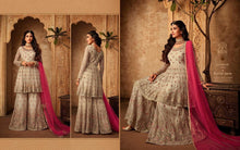 Load image into Gallery viewer, GLAMOUR by Mohini  2019 sharara style Indian  suits in silk and soft butterfly net |Indian summer wedding party/Diwali sharara dresses - LebaasOnline