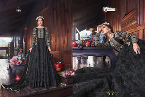 SNOWWHITE -Swagat Anarkali Suits| Indian dress| party gown|grey/ black dress| violet 2019 collection - LebaasOnline