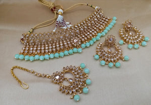 Tiffany Blue Crystal Party Jewellery Set - LebaasOnline