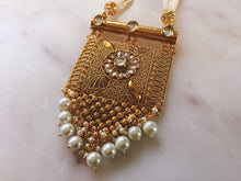 Load image into Gallery viewer, Pearl Haar With Golden Pendant - LebaasOnline