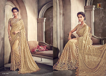 Load image into Gallery viewer, DESIGNER SAREE in trendy beautiful colours by brand MN - LebaasOnline