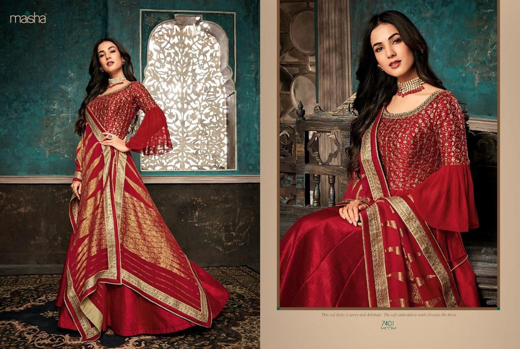 MAISHA FESTIVE-Exclusively  designed Anarkali Gown dresses - LebaasOnline