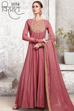 Load image into Gallery viewer, VIRASAT-Banglori Silk Party Gowns| Indian Gowns | Party Gowns| Indian dress online| Sale dresses | Anarkali Gowns for women| Bollywood dress - LebaasOnline