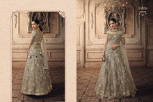 Load image into Gallery viewer, Stunning silver grey Vivaana BOLLYWOOD BRIDE Lehnga - LebaasOnline