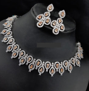Sabyasachi Summer Jewellery Inspired CZ diamond Sets - LebaasOnline