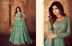 Shamita Shetty Classic Anarkali  Suit in trendy colours - LebaasOnline