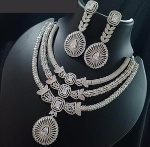 Sabyasachi Summer Jewelry inspired American Diamond Necklace| Fine jewellery- Christmas & Party gems jewellery| silver gold | rosegold ruby| - LebaasOnline
