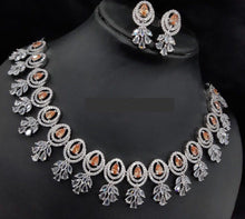 Load image into Gallery viewer, Sabyasachi Summer Jewelry inspired AD necklace set - LebaasOnline