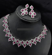 Load image into Gallery viewer, American Diamond Party jewellery necklace - LebaasOnline