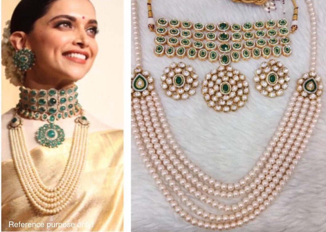 Deepika Padukone Wedding Jewellery Inspired set - LebaasOnline