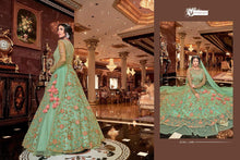 Load image into Gallery viewer, SNOWWHITE -Swagat Anarkali Suits in Glamours Green - LebaasOnline