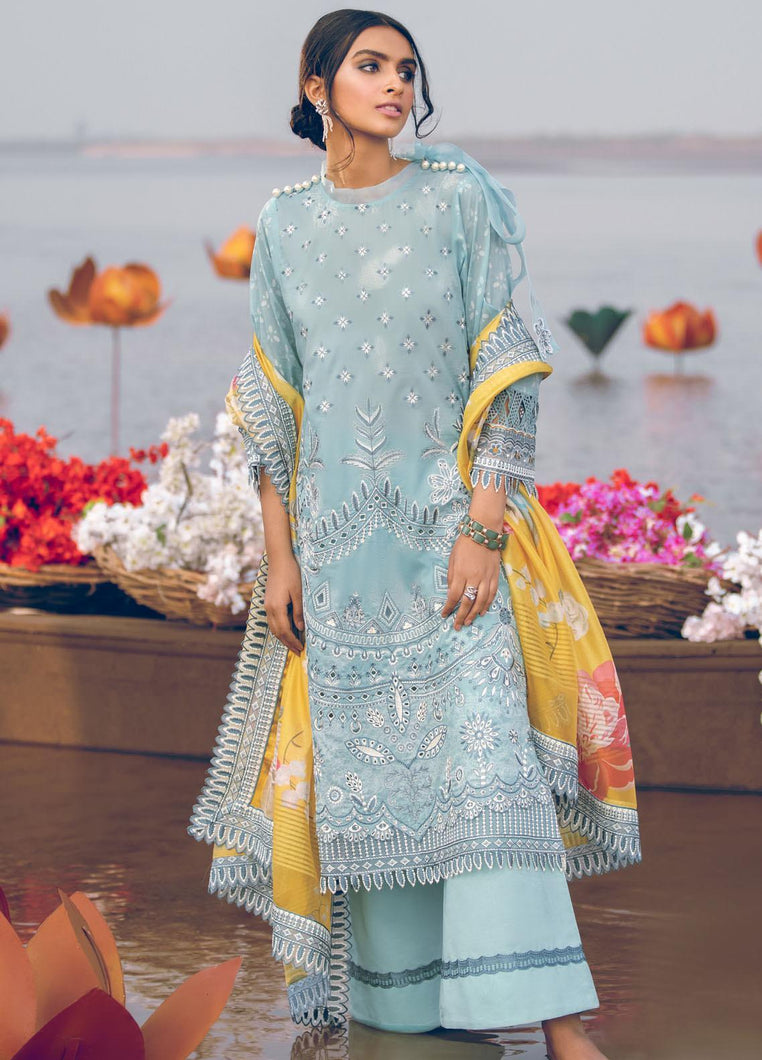 Buy Iznik Luxury Lawn 2021| Marine | 02 Light Blue Dress at exclusive rates Buy unstitched or customized dresses of IZNIK LAWN 2021, MARIA B M PRINT OFFICIAL IMROZIA UNSTITCHED Gulal dresses of Evening wear, Party wear and NIKAH OUTFITS ASIAN PARTY WEAR Dresses can be available easily at USA & UK at best price in Sale!