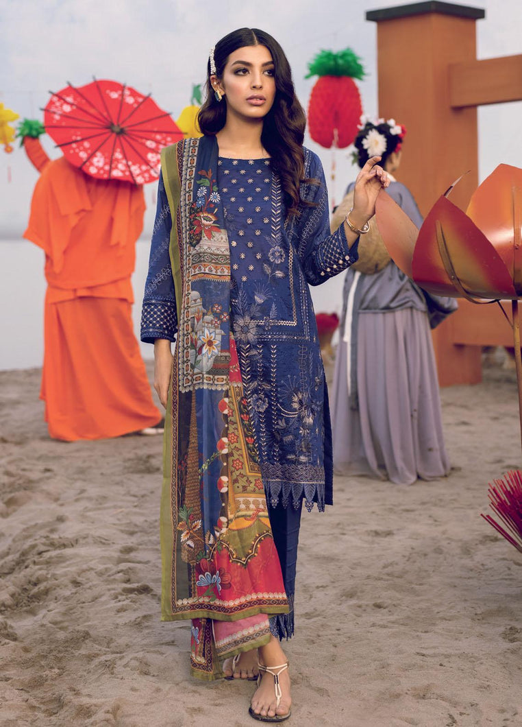 Buy Iznik Luxury Lawn 2021| Arcane | 08 Blue Dress at exclusive rates Buy unstitched or customized dresses of IZNIK LAWN 2021, MARIA B M PRINT LUXURY LAWN IMROZIA 2021, Gulal dresses of Evening wear, Party wear and NIKAH OUTFITS ASIAN PARTY WEAR Dresses can be available easily at USA & UK at best price in Sale!