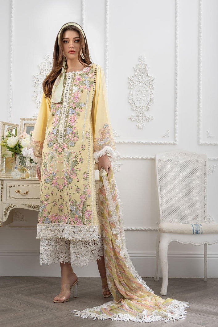Buy Sobia Nazir's Luxury Lawn Collection 2021 Yellow Dress from our website We are largest stockists of Sobia Nazir Lawn 2021 Maria b Pret collection The Pakistani Dresses UK are now trending in Mehndi Party Wear dresses and Bridal Collection Buy dresses online in Birmingham, UK USA Spain from Lebaasonline in SALE!