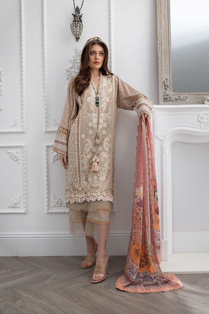 Buy Sobia Nazir's Luxury Lawn Collection 2021 Beige Lawn Dress from our website We are largest stockists of Sobia Nazir Lawn 2021 Maria b Pret collection The Pakistani designer are now trending in Mehndi, Eid Dresses Party dresses and Bridal Collection Buy dresses in Birmingham, UK USA Spain from Lebaasonline in SALE!