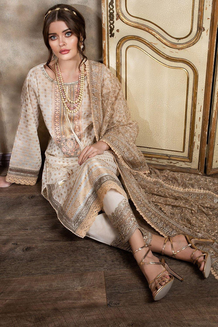 Buy Sobia Nazir's Luxury Lawn Collection 2021 Golden Lawn Dress from our website We are largest stockists of Sobia Nazir Lawn 2021 Maria b Pret collection The Pakistani designer are now trending in Mehndi, Eid Dresses Party dresses and Bridal Collection Buy dress pak in Birmingham UK USA Spain from Lebaasonline in SALE