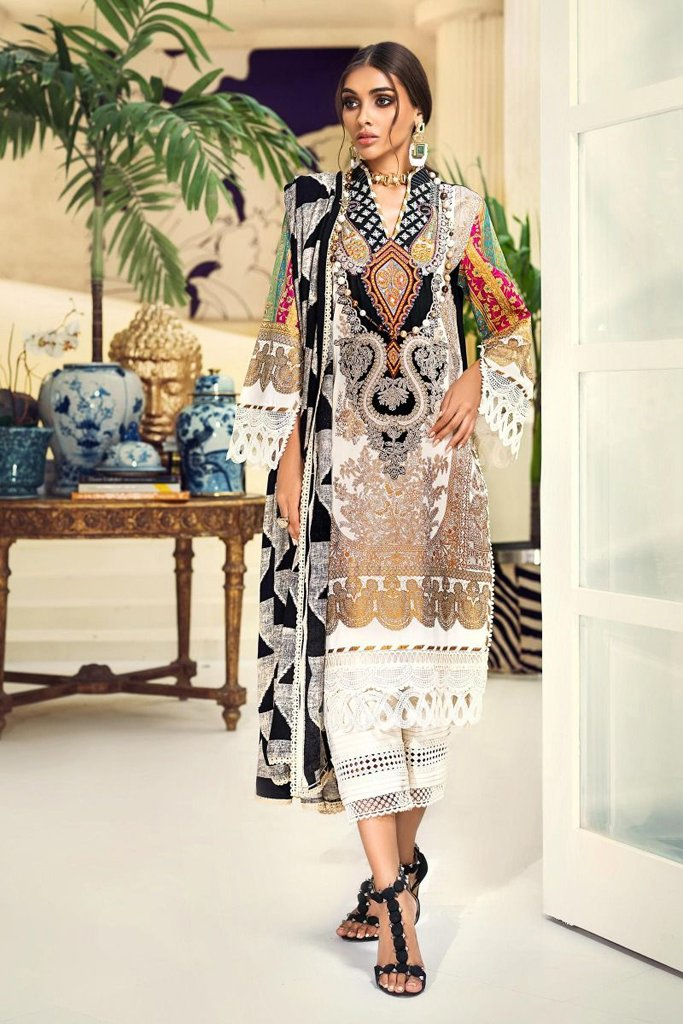 Buy now SANA SAFINAZ | Muzlin Winter'20 | M203-013B-CO at great price from Lebaasonline.co.uk
