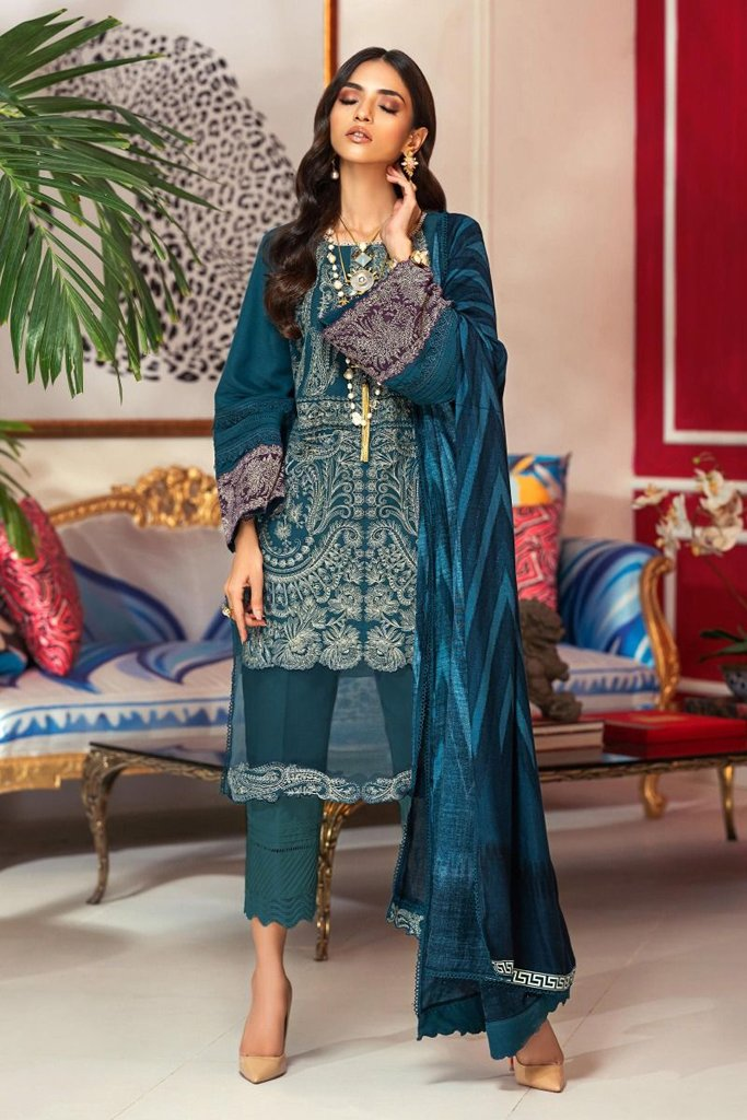Buy Now SANA SAFINAZ | Muzlin Winter'20 | M203-006B-AP at great price from Lebaasonline.co.uk
