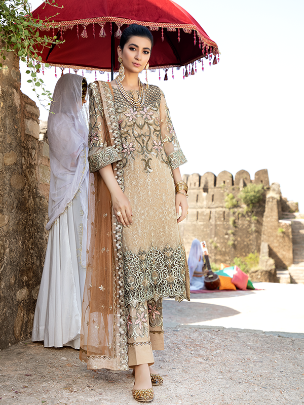 Imrozia Poshak E Khas DN 5004 : Embroidered organza with handmade embellishment by Serene Clothing Imrozia Women Brand Pakistani Designer Dresses are now available at Lebaasonline ! Pakistani Clothes UK and fashion are a central part of Pakistani culture and Pakistani Weddings Buy Imrozia Poshak E Khas at LebaasOnline.